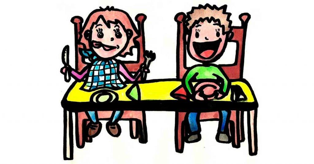 Manos en la mesa